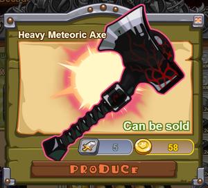 Heavy Meteoric Axe