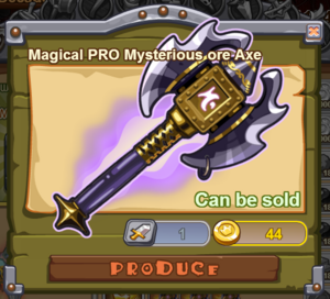 Magical PRO Mysterious Ore Axe
