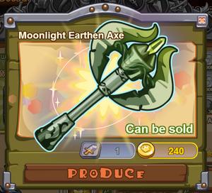 Moonlight Earthen Axe