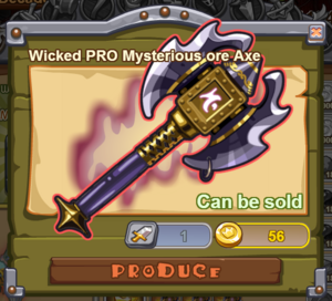 Wicked PRO Mysterious Ore Axe