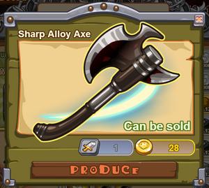 Sharp Alloy Axe