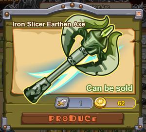 Iron Slicer Earthen Axe