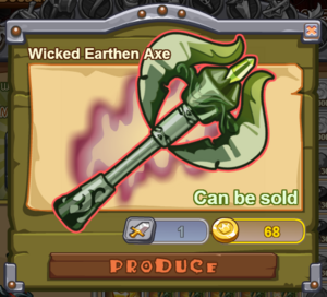 Wicked Earthen Axe