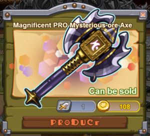 Magnificent PRO Mysterious Ore Axe