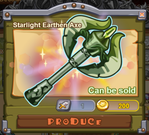 Starlight Earthen Axe
