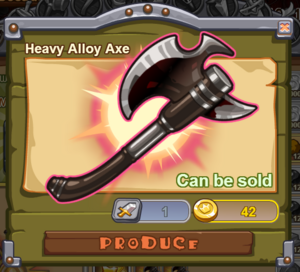 Heavy Alloy Axe
