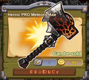 Heroic PRO Meteoric Axe