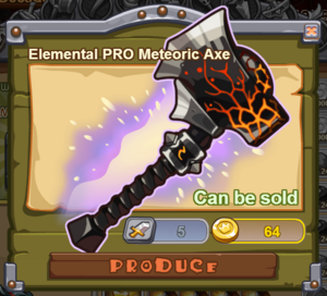 Elemental PRO Meteoric Axe