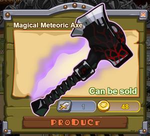 Magical Meteoric Axe