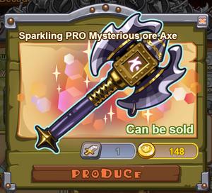 Sparkling PRO Mysterious Ore Axe