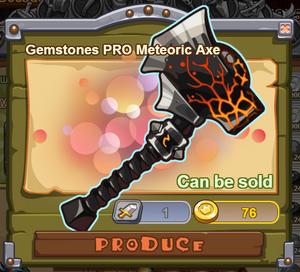 Gemstones PRO Meteoric Axe