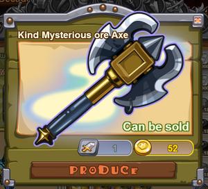 Kind Mysterious Ore Axe