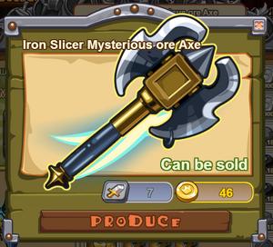 Iron Slicer Mysterious Ore Axe