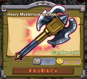 Heavy Mysterious Ore Axe