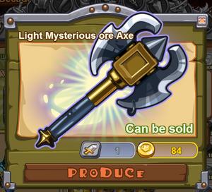 Light Mysterious Ore Axe