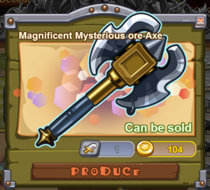 Magnificent Mysterious Ore Axe