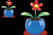 Plastic flower temp