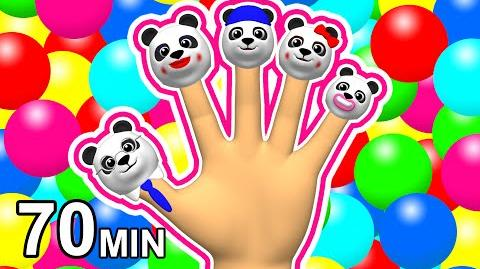 """""""Finger Family Song"""" & Colors Learning 3D Rhymes Mega Collection Pandas, Balls & Surprise Eggs"""