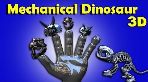 Finger Family Crazy Mechanical Dinosaur Family Funny Finger Family Songs For Children In 3D