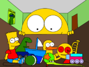 Bart Simpson and Bib Snake dolls in Geo