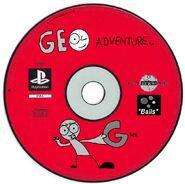 Geo Adventure PS1 disc PAL