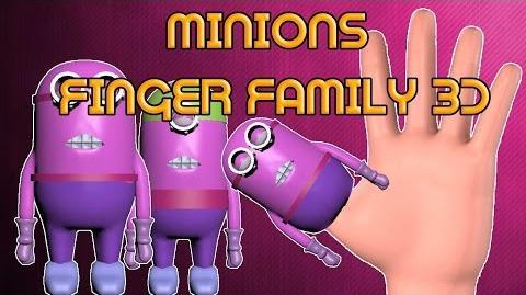 Minions finger family 3d Finger family rhyme in 3d Finger family(daddy finger daddy finger)