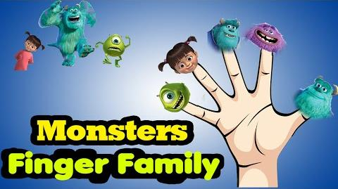 Monsters inc Finger Family Rhymes Collection for Children