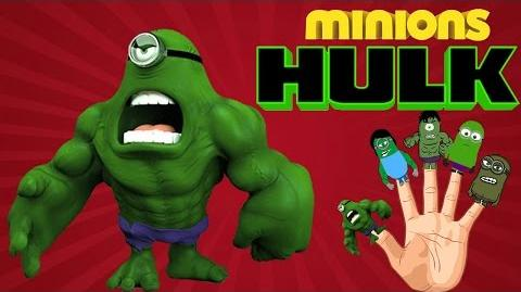 Finger Family Rhymes Hulk Cartoons Minions Bananas Finger Family Children Nursery Rhymes 2D