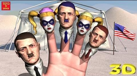 HITLER - HARLEY QUINN SING KARAOKE Finger Family Nursery Rhymes for Children 3D Animation