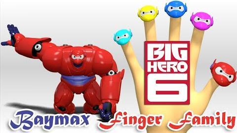 Baymax Big Hero 6 Finger Family Nursery Rhymes 3D Animation In HD From Binggo Channel