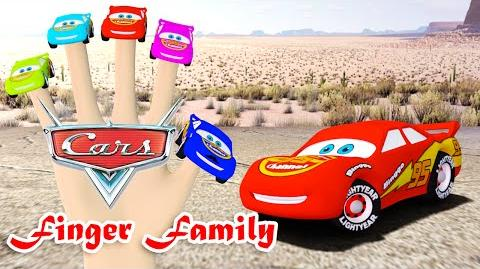 Lighting Mc Queen Cars Finger Family Nursery Rhymes 3D Animation In HD From Binggo Channel
