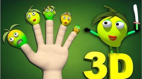 Fruit Finger Family Funny Mango Man Family in HD Finger Family Nursery Rhymes For Children in 3D