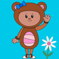 Teddy Bear from Mother Goose Club