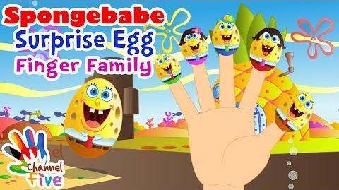 Spongebabe Surprise Egg Finger Family Nursery Rhyme for Children