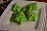 Las gallettas en la forma de el Arbil de Navidad