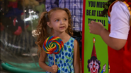 Sydney with her lolipop