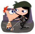 Phineas and 2nd dimension isabella by isuzu9-d4ezab0.png