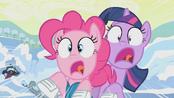 Pinkie and Twilight crashing S1E11