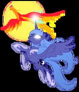Princess Luna and Philomena by artist-equestria-prevails