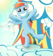 Rainbow Dash happy
