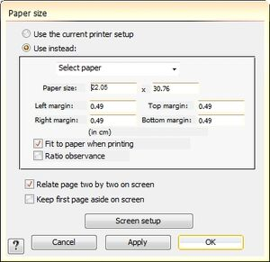 DialogPaperSize