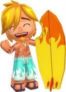 Luke and SurfboardStanding