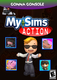 MySims Action new boxart