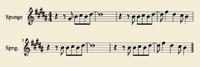 Sheetmusic Spunge Cold1