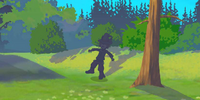 A Walking Scarecrow