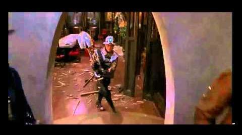 Mystery Men 2nd Blamethrower Shovel fight scene