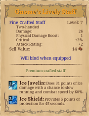 Gnomes lively staff