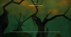 Fossilized forest load