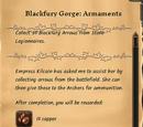 Blackfury Gorge: Armanents