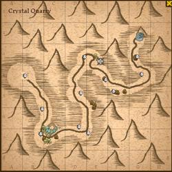 Crystal quarry map